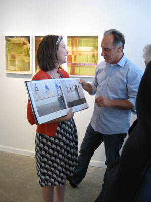 Becky Senf and Paul Kopeikin discuss Andy Freeberg's book with the INFOCUS group from the Phoenix Art Museum.